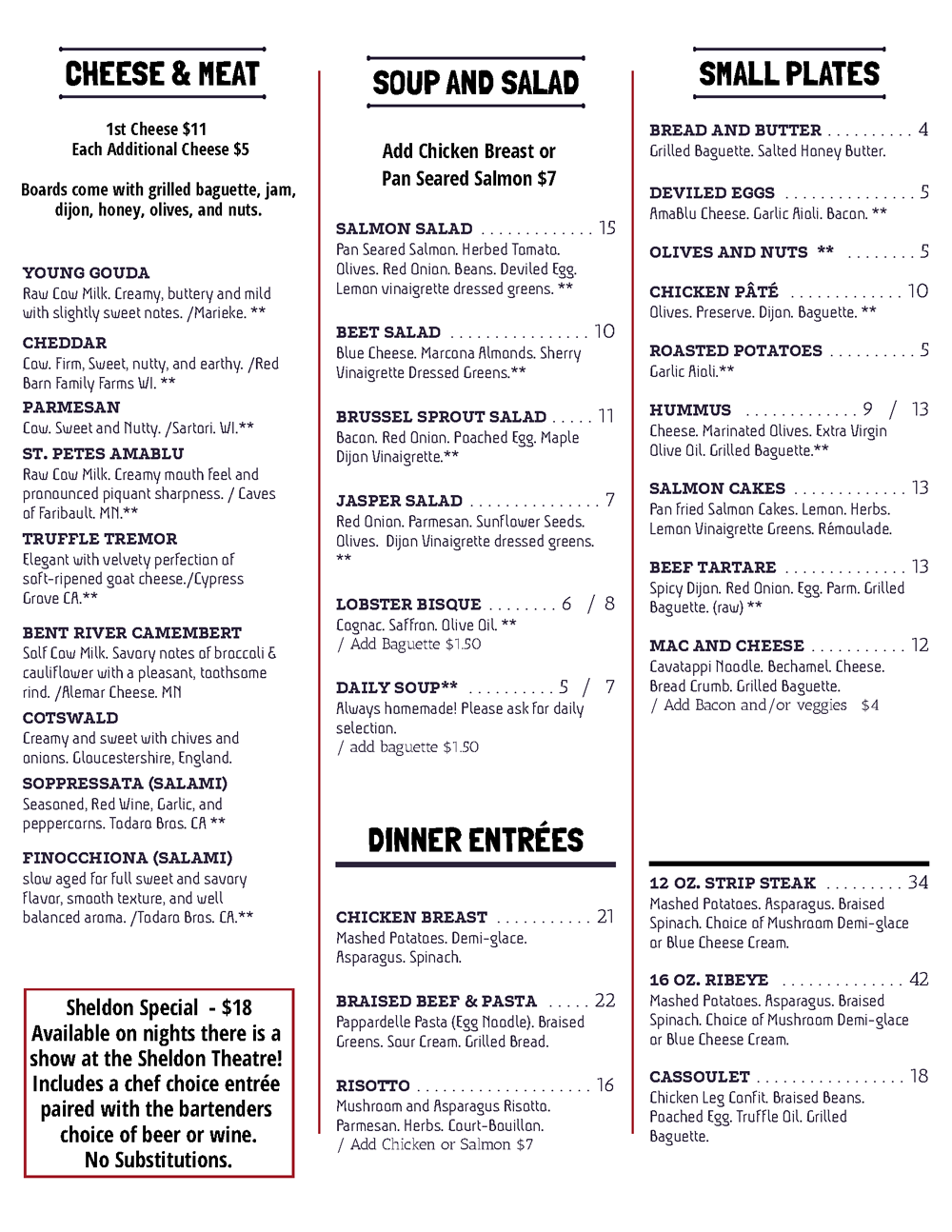 The Staghead - Red Wing Minnesota - Chef Driven Menu - Farm to Table, Fresh, Fine Dining, Gastropub, Craft Beer, Wine, Live Music, Specials, Beer Me, Sheldon Theatre, Marina, Treasure Island Casino